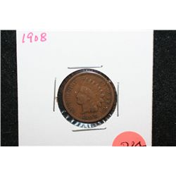 1908 Indian Head One Cent
