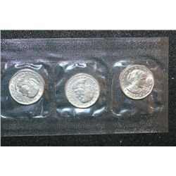1980 US Susan B. Anthony $1 Coin Set; P,S&D Mints