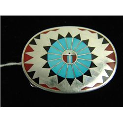 Zuni Inlay Buckle - F. L. Natachu