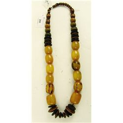 Amber and Bead Necklace