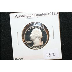 1982-S Washington Quarter; Proof