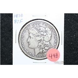 1878 Silver Morgan $1; 8 Tail Feathers