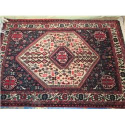 3 1/2 X 5 Hand Knotted Persian Abedeh Rug