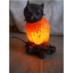 Glass Owl Light In Working Condition