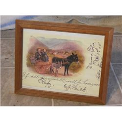 1905 Handwritten Note Home Family On The Road