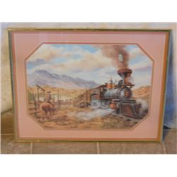 No. 2 Engine Passing The Ranch Print