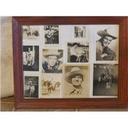 Wood Frame Full Of Pictures Of Roy Rogers
