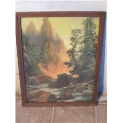 Sunset In The Mountains Framed Picture
