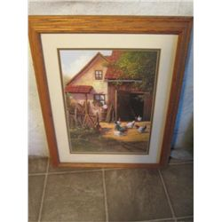 "Double Matted Print, ""the Hen House"""