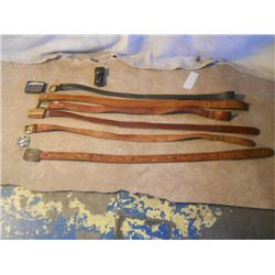 6 Leather Belts With Two Additional Buckels