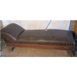 Leather Antique Fainting Couch (out Of Malones)