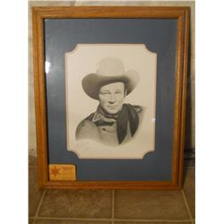 Wood Framed Portrait Of The Young Roy Rogers