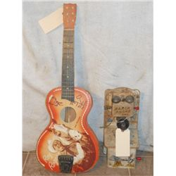 Roy Rogers Child Guitar And A Vintage  Ranch Phone