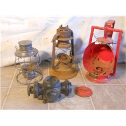 Parts And Pieces Of Antique Lanterns