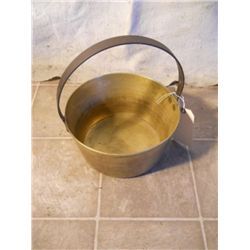 Large Basket Like Antique Metal Soup Pot