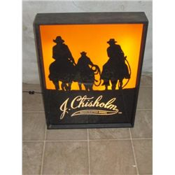Lighted J. Chisholm Handcrafted Boots Advertising