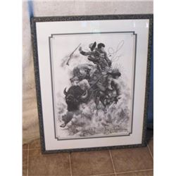 Triple Matted Framed Bill O'neill Signed Print