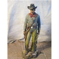 Mountain Man Carrying Satchel And Gun (cast)