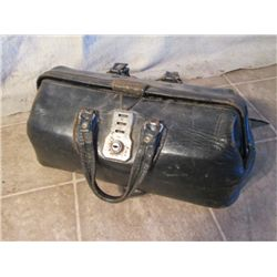 Black Leather Antique Doctor Bag