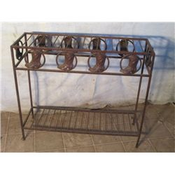 Rustic Rod Iron Rack With Cowboy Boot Decoration