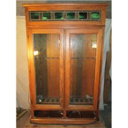 Beautiful Glass Front Rifle/gun Cabinet. 2 Drawers