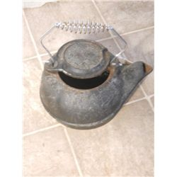 Cast Iron Tea Pot With Metal Handle