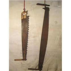 5' & 3 1/2 ' Antique Handsaws