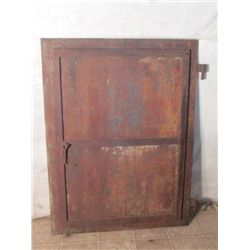 1880's Steel Door W/ Locking Pin