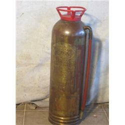 Vintage Brass Fire Extinguisher