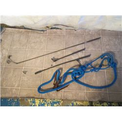 Blue Nylon Easy Halter And Reins W/ 3 Riding Crops