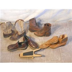 3 Pair Of Cowgirl Boots, 1 Pair Of Slip-ons