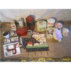 Big Box Lot Of Womanly Kitchen Items