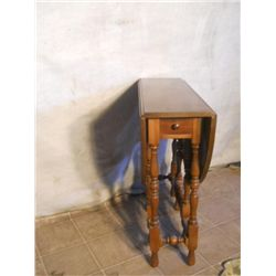 Drop Leaf Table With Small Single Drawer