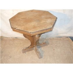 Small Octagon Wooden Side Table