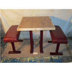 "29 1/2"" Tall 28"" X 28"" Square Table"
