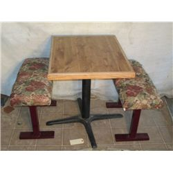 "30"" X 2' Table 29"" Tall With Floral Patterned"