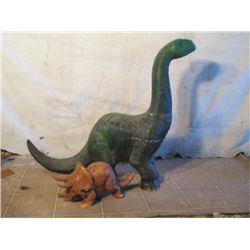 "Small Triceratops, And A 33"" Tall Diplodocus"