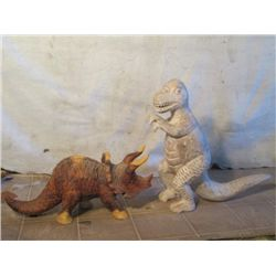 Baby T-rex, And Triceratop