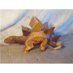 Wood Carved Stegosaurus