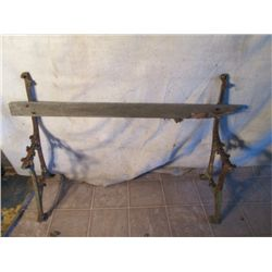 Antique Cast Iron Bench With Only One Original