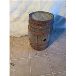 Small Wooden Antique Barrel No Cork
