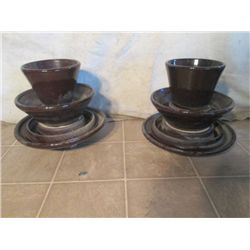 Choice Out - 2 Brown Porcelain Large Insulators