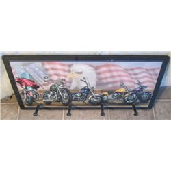 Harley & Eagle Picture Coat Rack