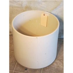 Large White Crock With Crack Down The Side