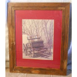 Wood Framed Matted Buckboard