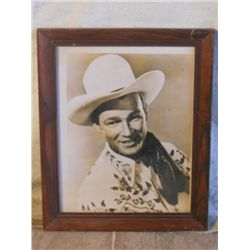 Wood Framed Portrait Shot Of Roy Rogers