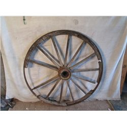 "53"" Tall   Antique Wagon Wheel"