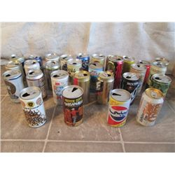 Vintage Aluminum Beer Cans 29 Total