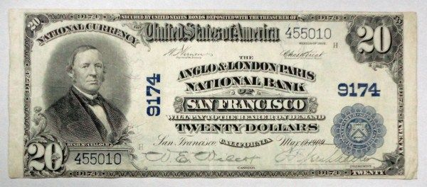 Image 1 1902 20 National Currency Anglo London Paris San Francisco