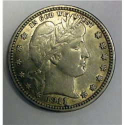 1911 BARBER QUARTER ORIGINAL AU